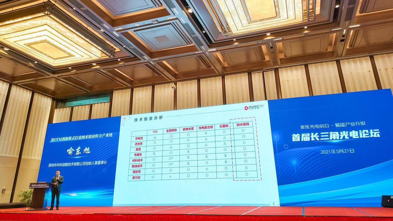 华科创智董事长喻东旭受邀出席首届长三角光电论坛并发表报告