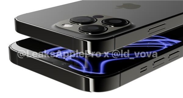 苹果iPhone 13 Pro最新渲染图曝光 刘海缩小了